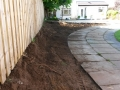Excavation garden path